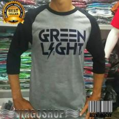 Kaos Raglan GREEN LIGHT Best Quality Virgoshop Clothing