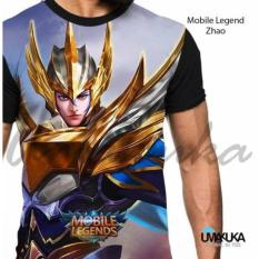 kaos sablon 3D mobile legend zilong skin