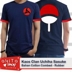 Jual Kaos Sasuke Sharinggan Anime Naruto Branded Original