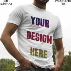 Kaos Satuan Sablon Print Dtg Desain Sendiri A3 - Mf04pa