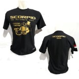 Harga Kaos Scorpio Sc002 Baju Distro Bikers Yamaha Motor Bonus Stiker Merch Cadel Bandung Terbaik