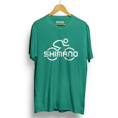 Harga Kaos Sepeda Shimano Kualitas Premium Hijau Tosca Murah