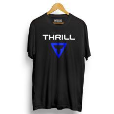 Kaos Sepeda THRILL Kualitas Premium - Black Blue