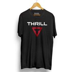 Kaos Sepeda THRILL Kualitas Premium - Black Red