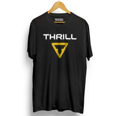 Kaos Sepeda THRILL Kualitas Premium - Black Yellow