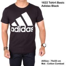 Spesifikasi Kaos Slim Fashion Cowo Hitam Adidas Kaos Pria Slimfit