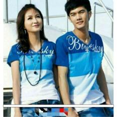 kaos / t-shirt couple pasangan BLUESKY benhur