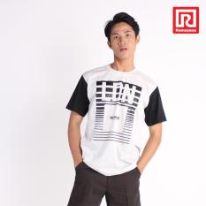 Ramayana - Super R - Kaos T-Shirt Pria London Kombinasi Lengan Oblong Teteron Cotton Misty61 – Super R (07973398)