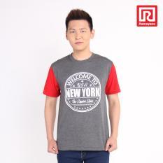 Ramayana - Super R - Kaos T-Shirt Pria New York Kombinasi Lengan Oblong Teteron Cottonmisty Tua – Super R (07973306)
