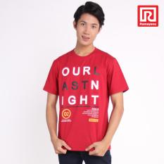 Ramayana - Super R - Kaos T-Shirt  Pria Our Last Night Oblong  Tetoron Cotton Maroon – Super R (07972490)