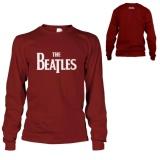 Beli Kaos The Beatles T Shirt Lengan Panjang Maroon Cicil