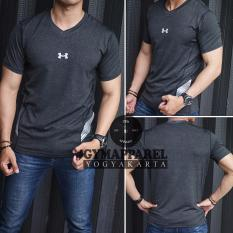Katalog Kaos Tshirt Manset Baselayer Under Armour Vneck Misty Compression Black Gym Run Sepeda Tennis Training Excersise 2617 Terbaru