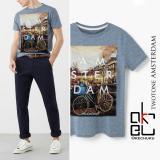 Kaos Twotone T Shirt Okechuku Print Amsterdam Dki Jakarta Diskon 50