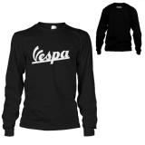 Jual Kaos Vespa T Shirt Lengan Panjang Hitam Branded Original