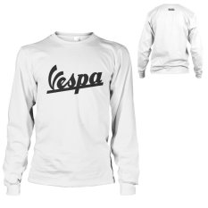 Kaos Vespa T-Shirt  Lengan Panjang - Putih