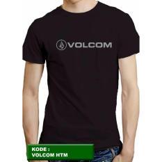 Harga Kaos Volcom Baju Kaos Distro Kaos Cowok Kaos Pria Pakaian Pria Tshirt Kaos Hitam Merk Universal
