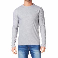 Kaos55 Kaos T-Shirt O-Neck Lengan Panjang Slim - Abu Misty