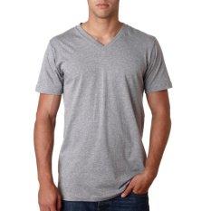 Review Toko Kaos55 Kaos T Shirt V Neck Lengan Pendek Abu Abu