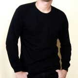 Spesifikasi Kaos86 Kaos Polos T Shirt O Neck Lengan Panjang Hitam Merk Kaos86
