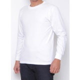 Spesifikasi Kaos86 Kaos Polos T Shirt O Neck Lengan Panjang Putih Kaos86 Terbaru
