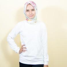 Tips Beli Kaos86 Kaos Polos T Shirt O Neck Lengan Panjang Putih