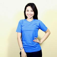Kaos86 Kaos Polos T-Shirt O-Neck Lengan Pendek - Biru Turquoise Tua