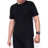 Spek Kaos86 Kaos Polos T Shirt O Neck Lengan Pendek Hitam Kaos86