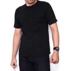 Kaos86 Kaos Polos T-Shirt O-Neck Lengan Pendek - Hitam