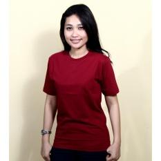 Kaos86 Kaos Polos T-Shirt O-Neck Lengan Pendek - Maroon