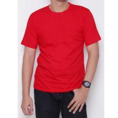 Kaos86 Kaos Polos T Shirt O Neck Lengan Pendek Merah Cabe Di Indonesia