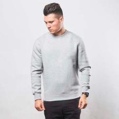 Kaosbro Basic Sweater Sweater Jumper Polos Abu Misty Di Jawa Barat
