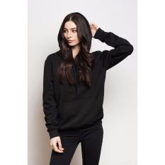 Spesifikasi Kaosbro Jaket Hoodie Polos Hitam Wanita Yang Bagus Dan Murah