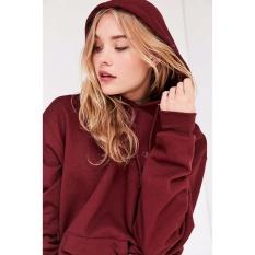 Spesifikasi Kaosbro Jaket Hoodie Polos Merah Marun Wanita Yg Baik