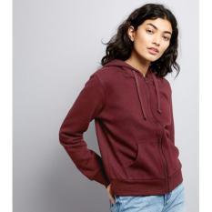 Review Kaosbro Jaket Hoodie Zipper Polos Merah Marun Wanita Jawa Barat