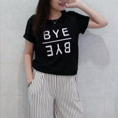 KaosBro - Kaos Cewek / T-Shirt Wanita / Tumblr Tee Bye Bye - Hitam