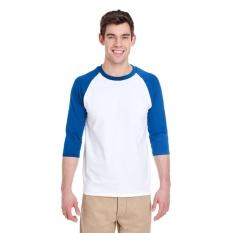 Harga Kaosbro Kaos T Shirt Raglan Dua Warna Putih Biru Branded