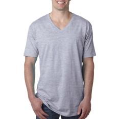 KaosBRO Kaos T-Shirt V-Neck Lengan Pendek - Abu Misty