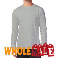 OWL - Kaos T-Shirt O-Neck Lengan Panjang Slim - PutihIDR39500. Rp 96.000