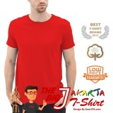 Tips Beli Kaosyes T Shirt Kaos Polos Lengan Pendek The Big J Merah