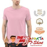 Spesifikasi Kaosyes T Shirt Kaos Polos Lengan Pendek The Big J Pink Merk Kaosyes
