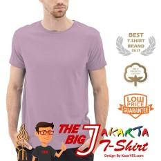 Jual Kaosyes T Shirt Kaos Polos Lengan Pendek The Big J Ungu Muda Online