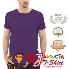 Harga Kaosyes T Shirt Kaos Polos Lengan Pendek The Big J Ungu Tua Kaosyes Terbaik