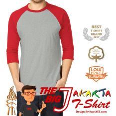 KaosYES T-Shirt Kaos Polos Raglan