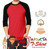 Beli Kaosyes T Shirt Kaos Polos Raglan The Big J Merah Hitam Indonesia