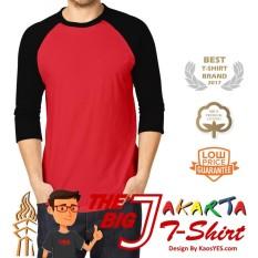 Beli Kaosyes T Shirt Kaos Polos Raglan The Big J Merah Hitam Nyicil
