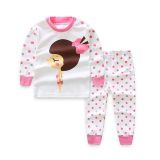 Spesifikasi Setelan Anak Perempuan Baju Musim Gugur Lengan Panjang Katun Murni Dan Celana Musim Gugur Merah Muda Dan Harganya