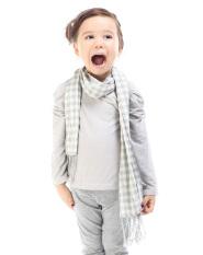 Jual Kapas Musim Semi Dan Musim Gugur Anak Anak High End Syal Syal Abu Abu Terang Oem Asli