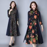 Beli Kapas Retro Baru Slim Dicetak Gaun Ditingkatkan Gaun Cheongsam Bunga Besar Baju Wanita Dress Wanita Gaun Wanita Dengan Kartu Kredit