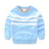 Toko Kapas Sayang Tambah Beludru Pakaian Musim Dingin Pakaian Musim Baru Pakaian Anak Anak Kemeja Rajut Anak Anak Sweter Langit Biru Other