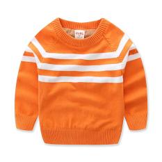 Harga Hemat Kapas Sayang Tambah Beludru Pakaian Musim Dingin Pakaian Musim Baru Pakaian Anak Anak Kemeja Rajut Anak Anak Sweter Warna Jingga